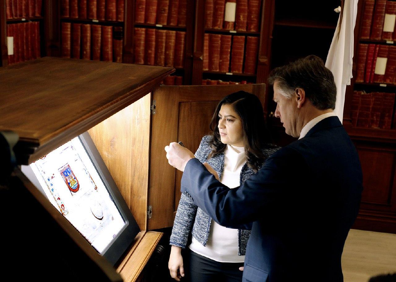 Recibe Claudia Rivera al embajador de EU en Palacio Municipal
