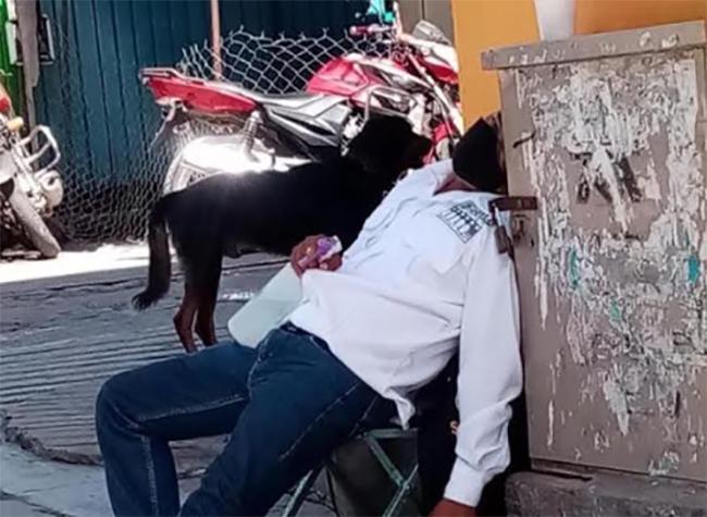 Se duerme trabajador encargado de combatir el Covid en Chiautla