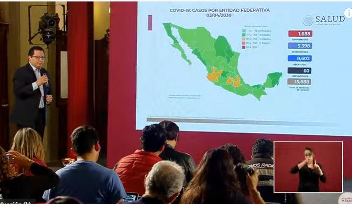 VIDEO Aumenta a 1688 los casos de coronavirus en México; hay 60 muertos