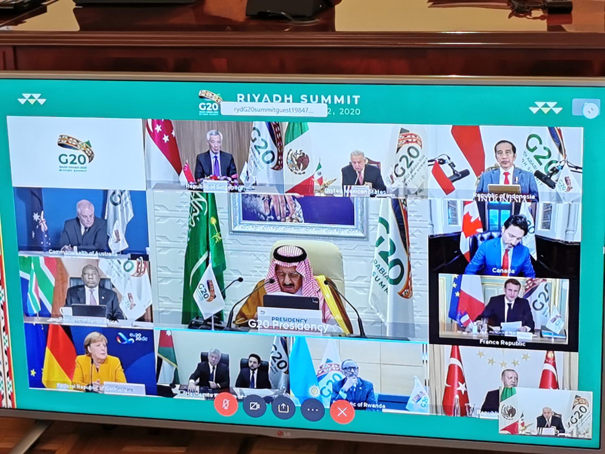 Durante reunión del G20, pide AMLO garantizar derecho humano a la salud