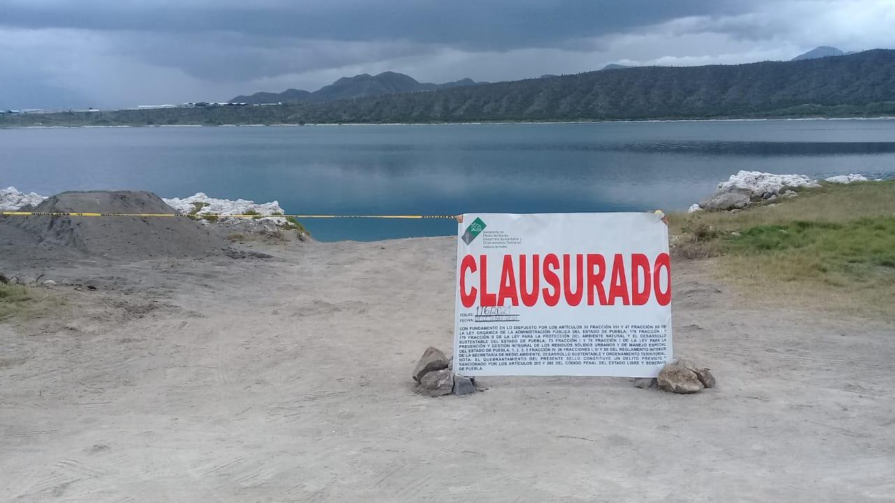 Medio Ambiente clausura construcción de muelle en laguna de Alchichica