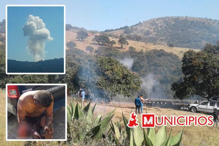 Cuatro muertos y cinco lesionados por explosión de polvorín en Amozoc