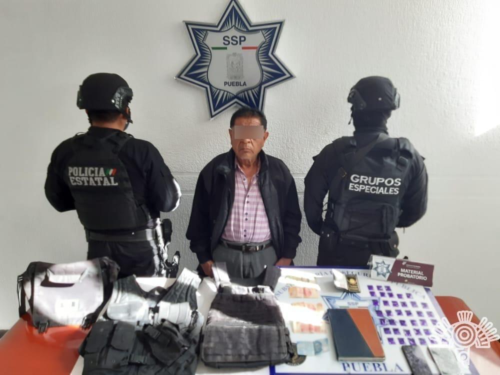 Cae operador de La Patrona; extorsionaba a locatarios del mercado Morelos en Puebla
