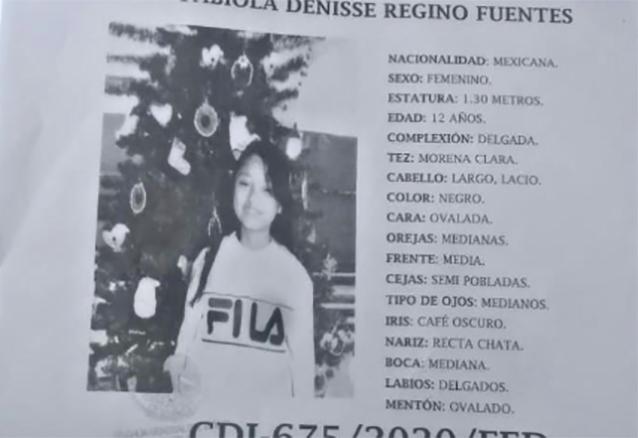 Buscan a Fabiola de 12 años en la colonia El Salvador en Puebla