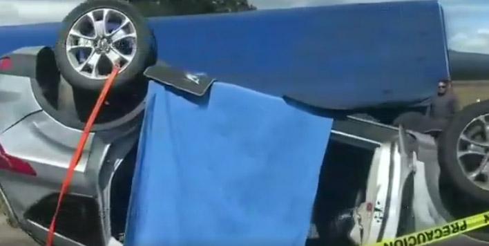 En choque muere familia en la autopista Amozoc-Perote