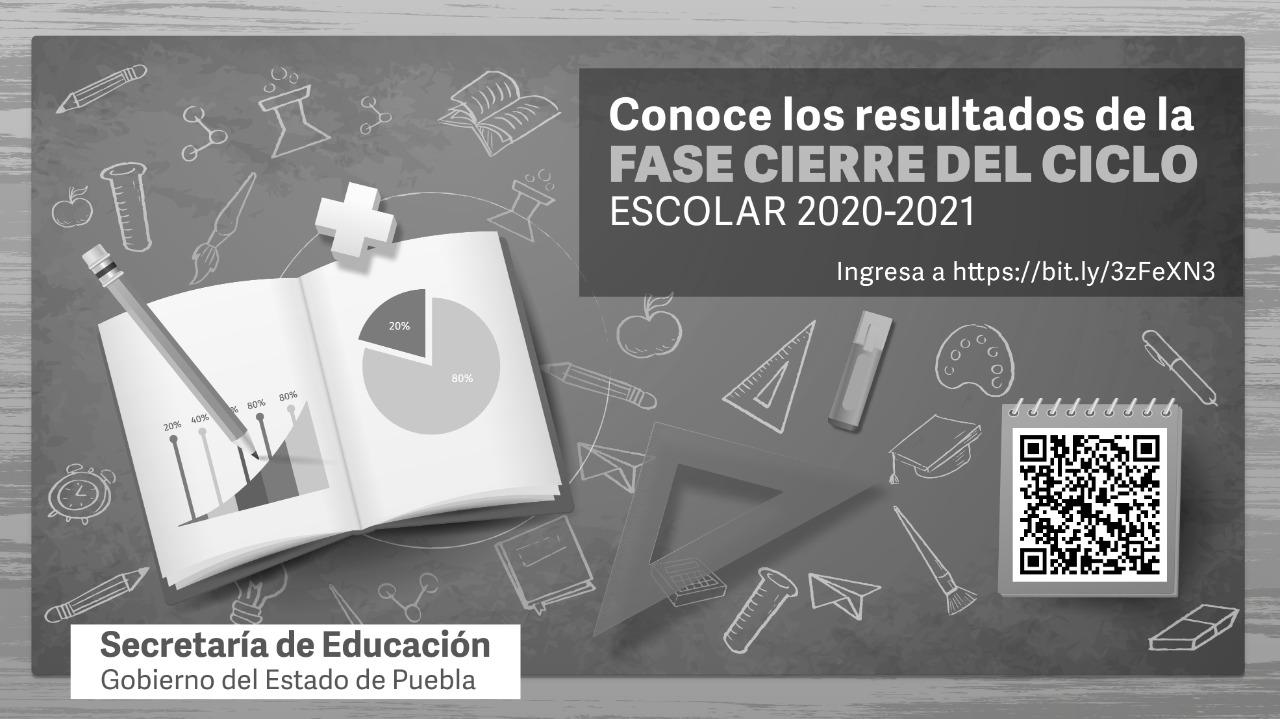 Publica SEP Resultados de la fase cierre del ciclo escolar 2020-2021