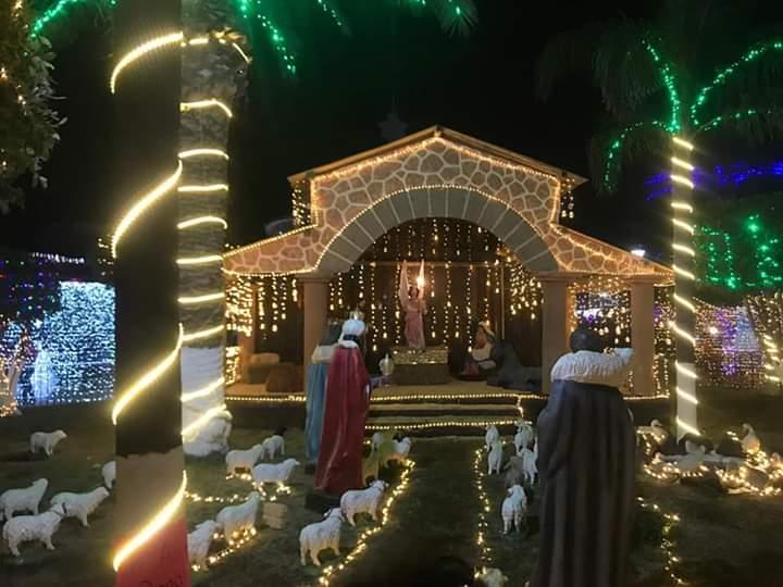 Tlanalapan recrea villa iluminada con apoyo de ciudadanos