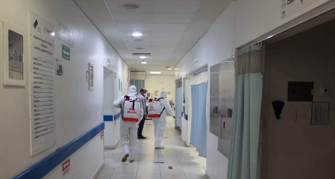 Sanitizan hospital ancla de Teziutlán ante coronavirus