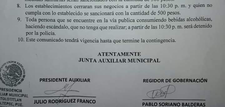 En Atolotitlan anuncian multas y hasta arrestos a visitantes