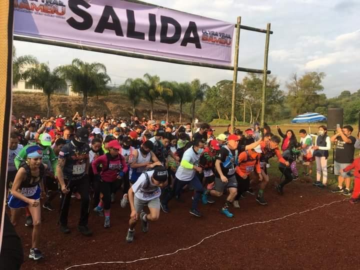 Sin miedo al Covid, corren cientos en el Ultra Trail Bambú Hueytamalco