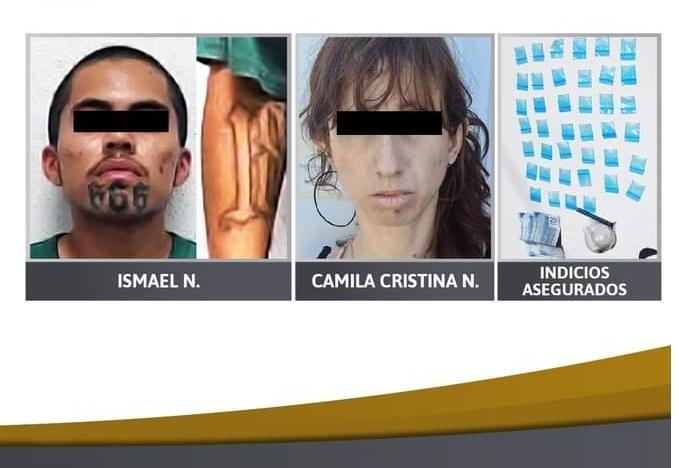 Detienen a brasileña y otro sujeto con drogas en Izúcar