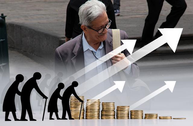 Más del 50% de pensionados apenas recibe 5 mil pesos al mes
