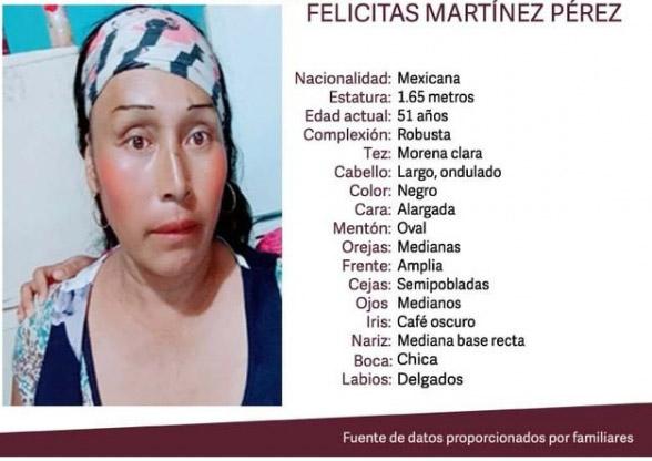 Felicitas desapareció en Atzitzihuacán hace dos días; padece esquizofrenia
