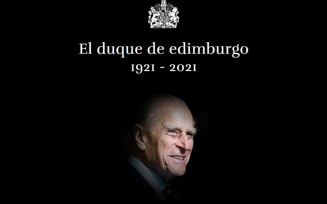 Murió el príncipe Felipe, esposo de la reina Isabel II del Reino Unido