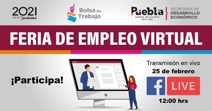 Ayuntamiento de Puebla hará feria del empleo virtual con más de 600 plazas