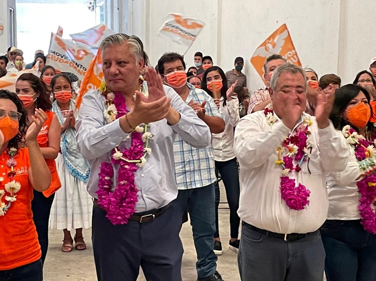 MC va por 80 alcaldías, 6 diputaciones locales y 3 federales: Morales