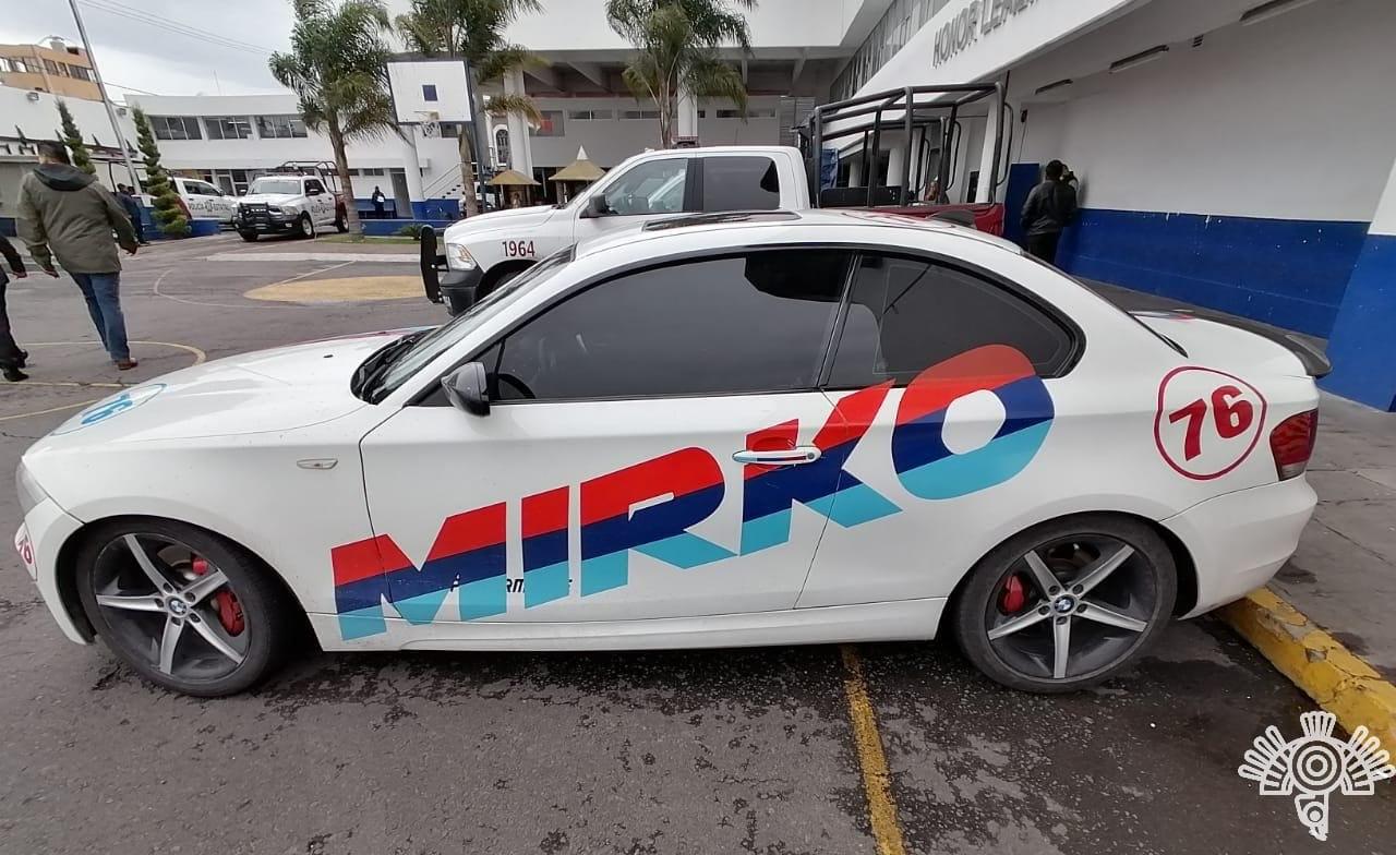 Cae narcomenudista fifí en San Andrés Cholula; vendía droga en su BMW