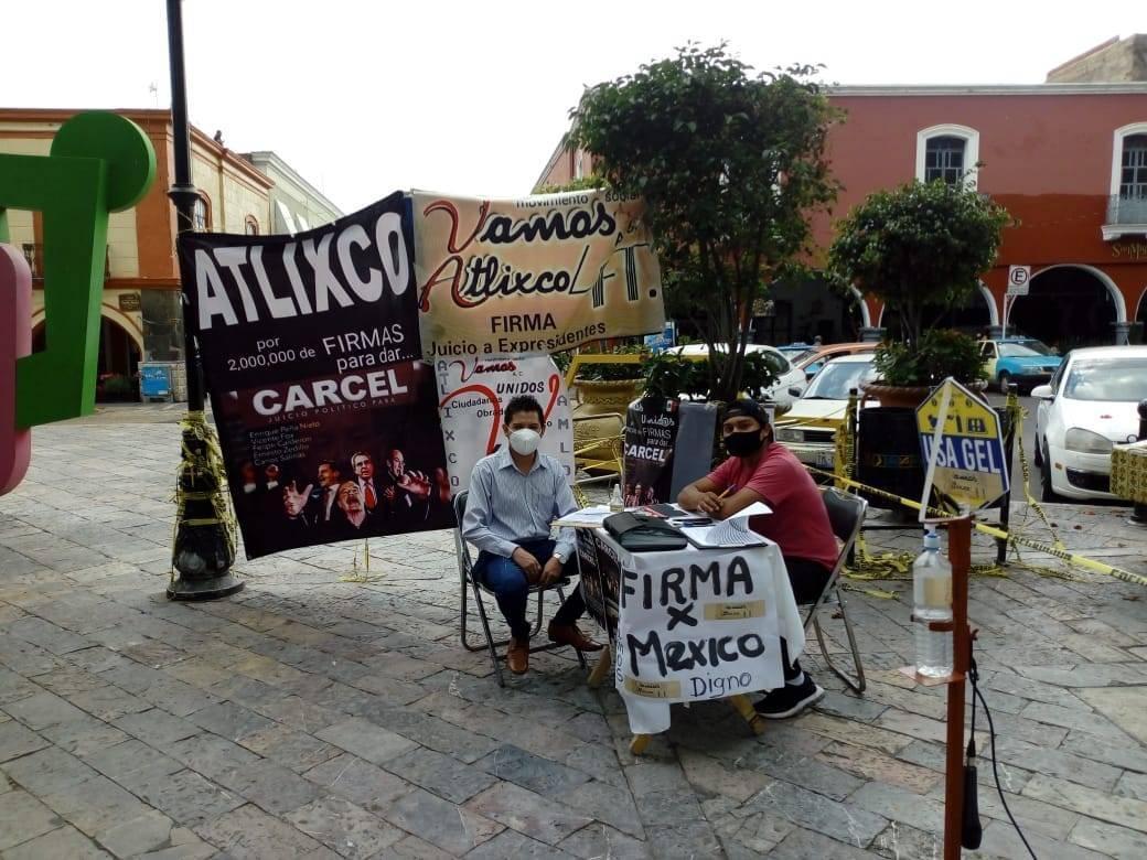 Juntan más de 2 mil 500 firmas en Atlixco contra ex presidentes