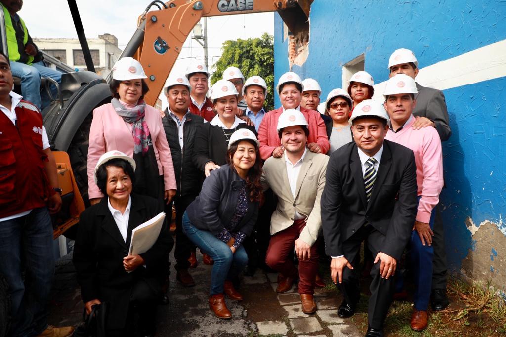 Pérez Popoca da banderazo a construcción de la Secretaría de fomento económico