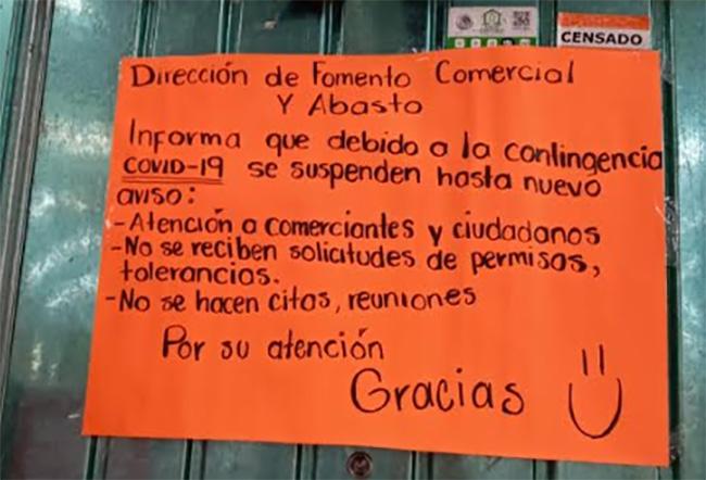 Suspende actividades Fomento Comercial en Tehuacán y ambulantes se desbordan