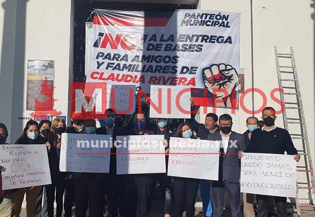 Sindicato del ayuntamiento de Puebla inicia un paro de brazos caídos