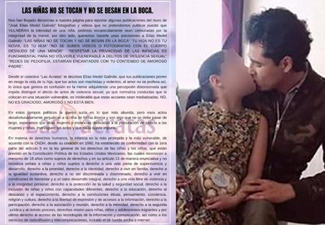 Colectivo critica a aspirante que exhibió fotos besando a su hija
