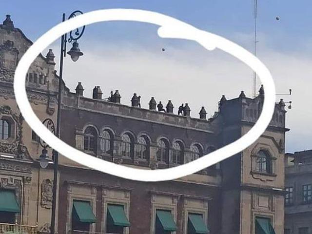 Gobierno desmiente presencia de francotiradores en Palacio Nacional durante el 8M