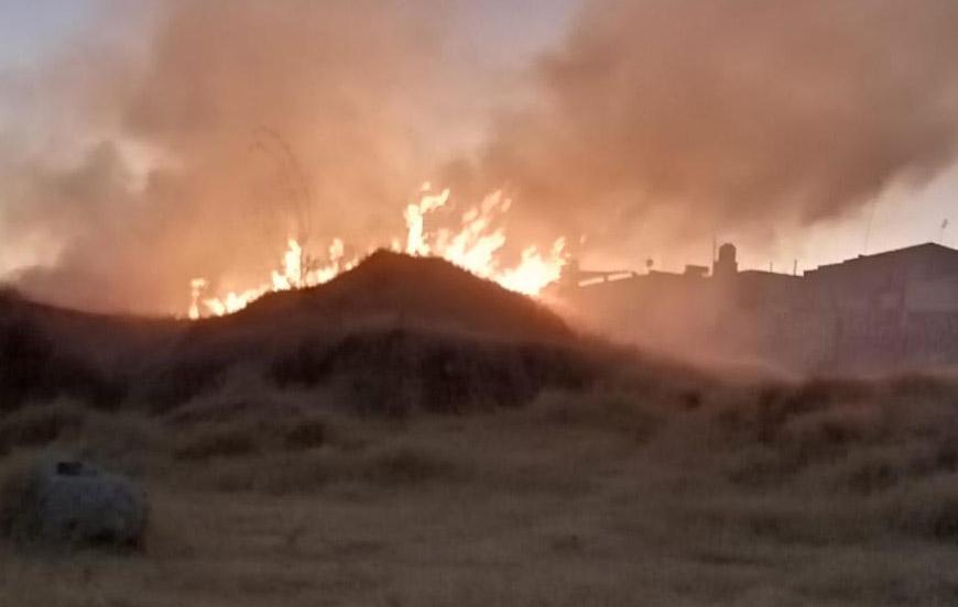 Arrecian incendios forestales en la zona de Atlixco