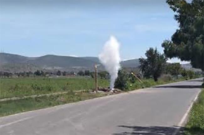 VIDEO Registran fuga de gas LP cerca de escuela en Tepeaca