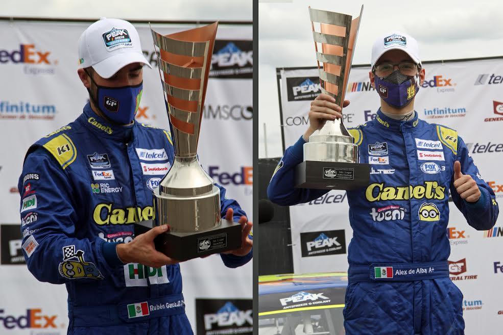 Así fue la carrera de García Jr. y De Alba Jr. en NASCAR Peak