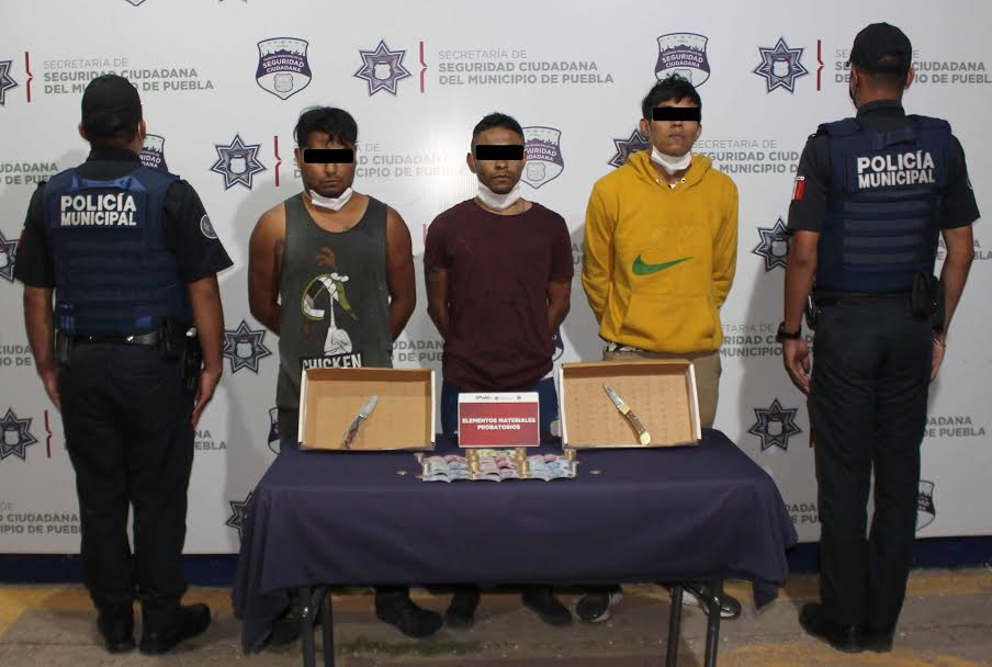 Desarticulan banda dedicada al robo de gasolineras en Puebla