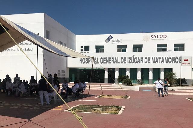 Hospital General de Izúcar, con ocupación del 100% de pacientes Covid