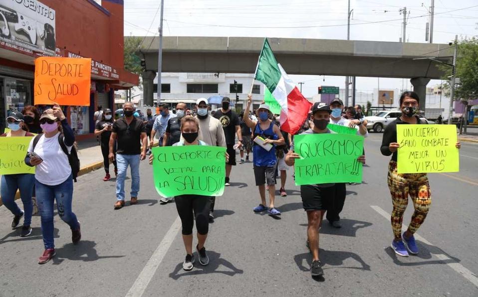 Alistan protesta dueños de gimnasios en calles de Puebla y zona metropolitana