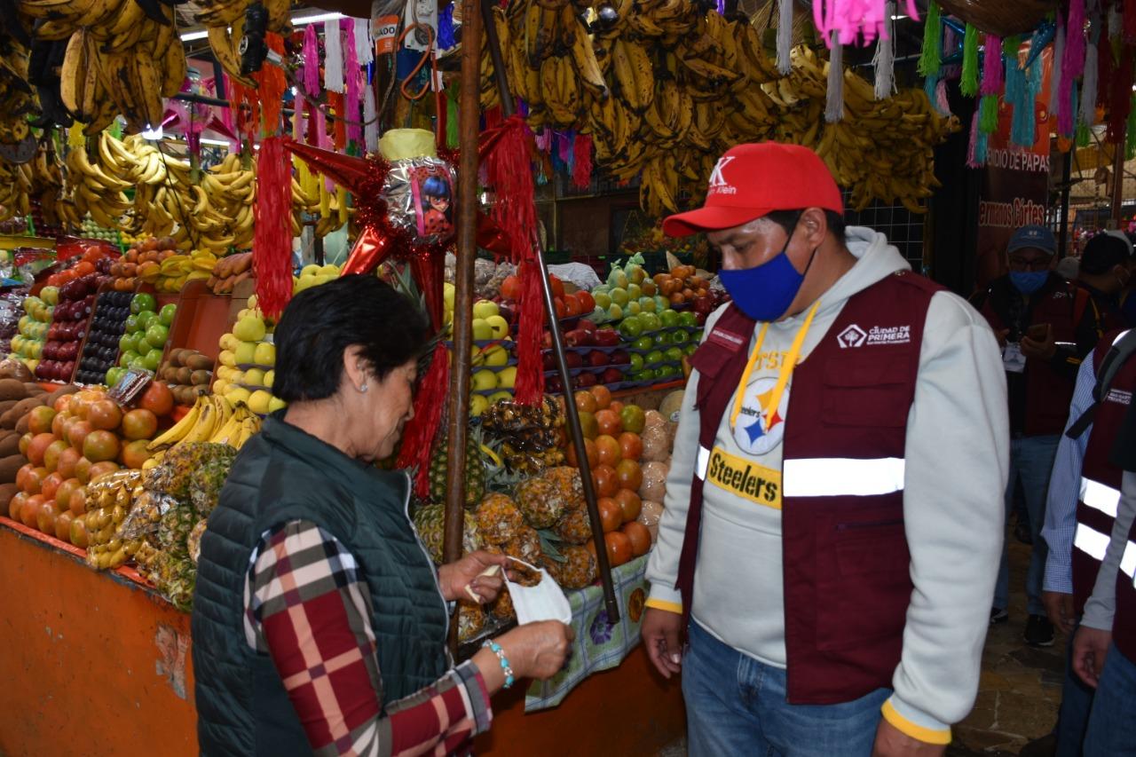 Verifican medidas de higiene en comercio de Texmelucan