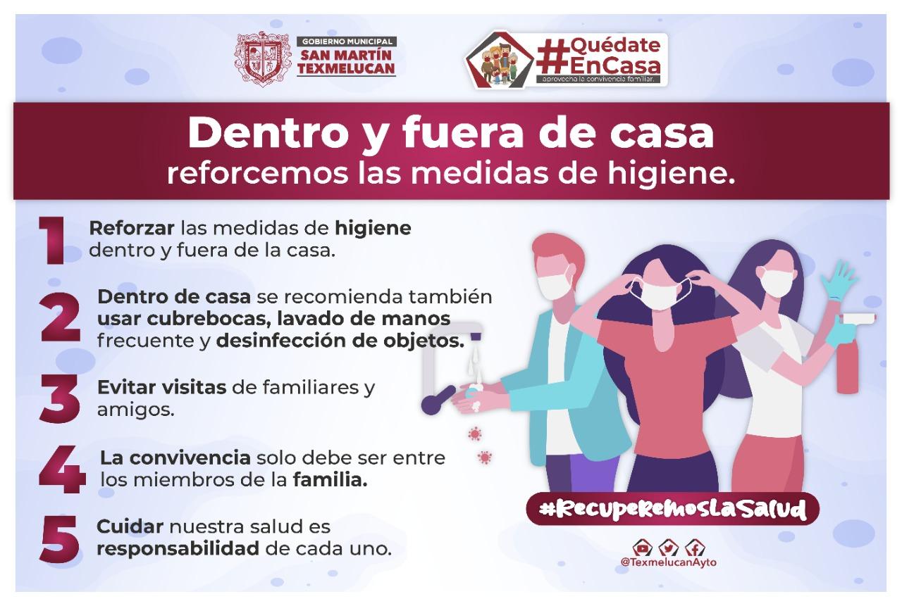 Pide gobierno de Texmelucan usar cubrebocas en casa