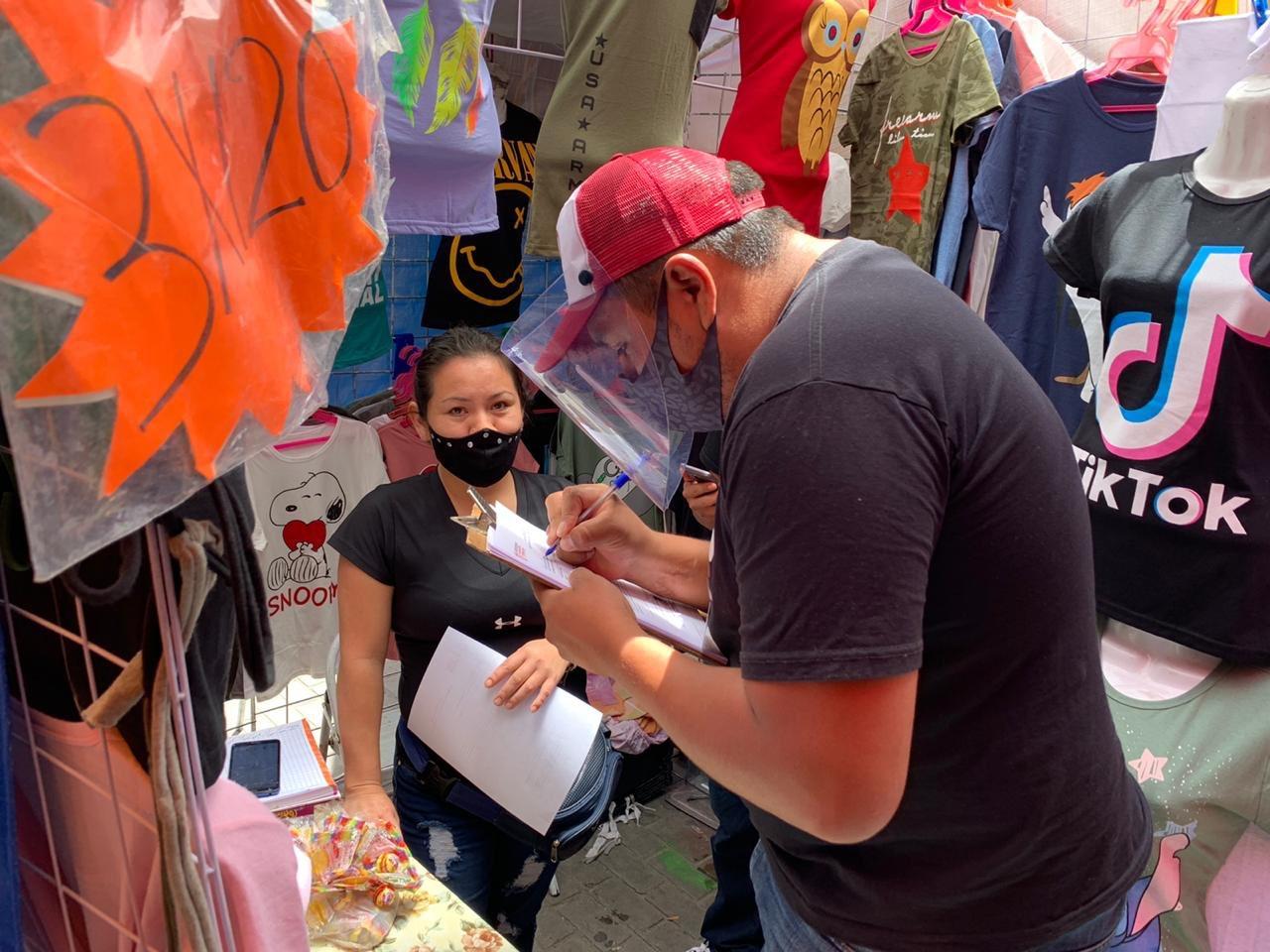 Aplican operativo a ambulantes de Texmelucan por Covid19