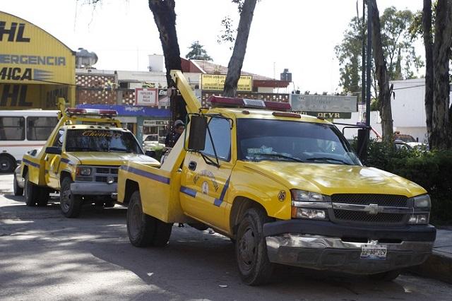 Regulará SMT costos y servicios de grúas y corralones en el estado