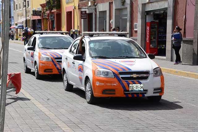 Guardias Ciudadanos de San Pedro Cholula, sin uniformes ni apoyos para el covid