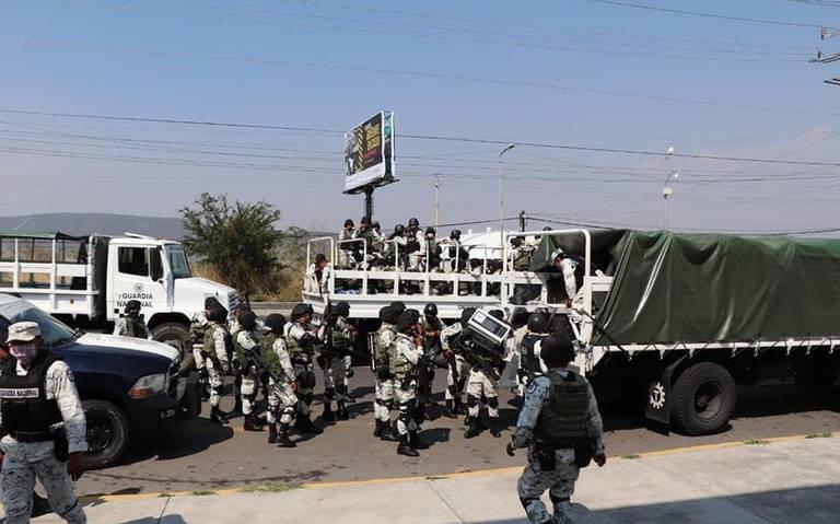 Guardia Nacional se confronta contra rondas de seguridad de Izúcar