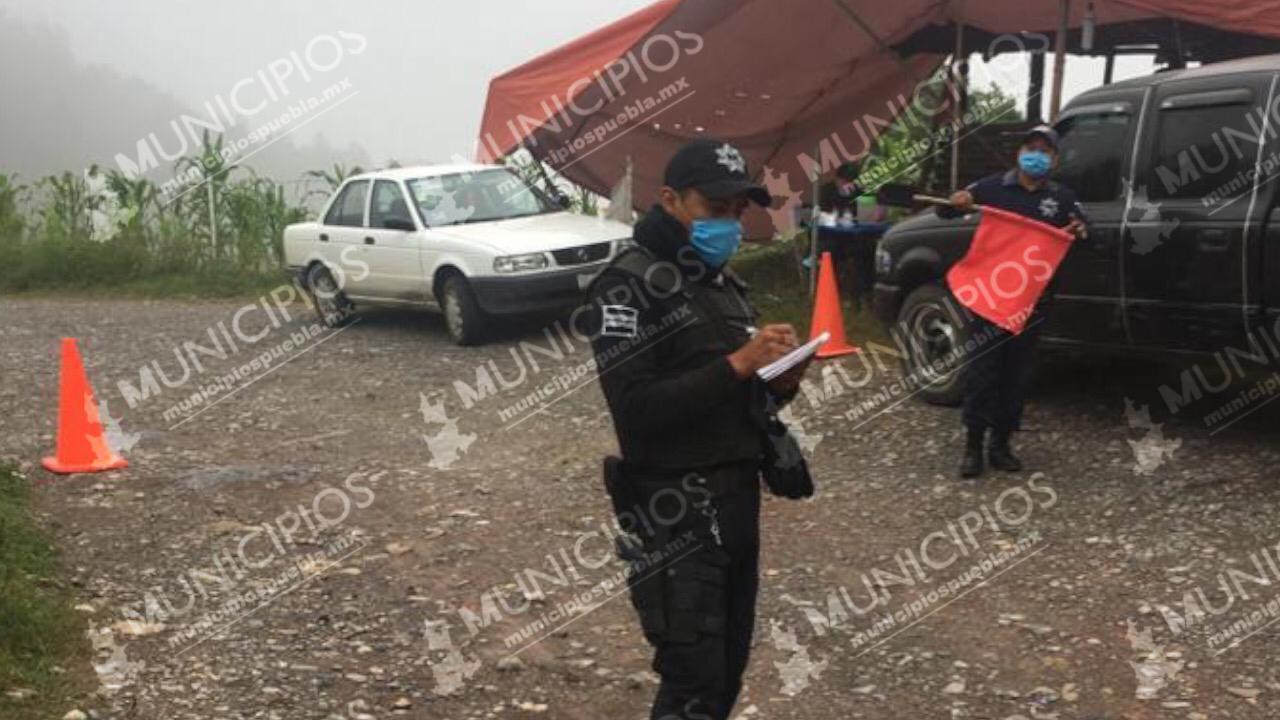 Instalan cerco sanitario en Hermenegildo Galeana por Covid-19