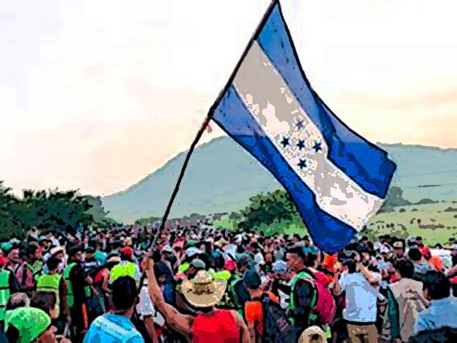 Hondureños huyen del Covid hacia EU