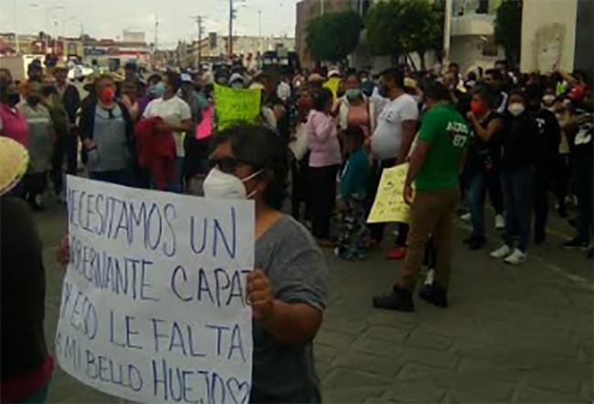 Continúan las protestas por resultados de la elección en Huejotzingo