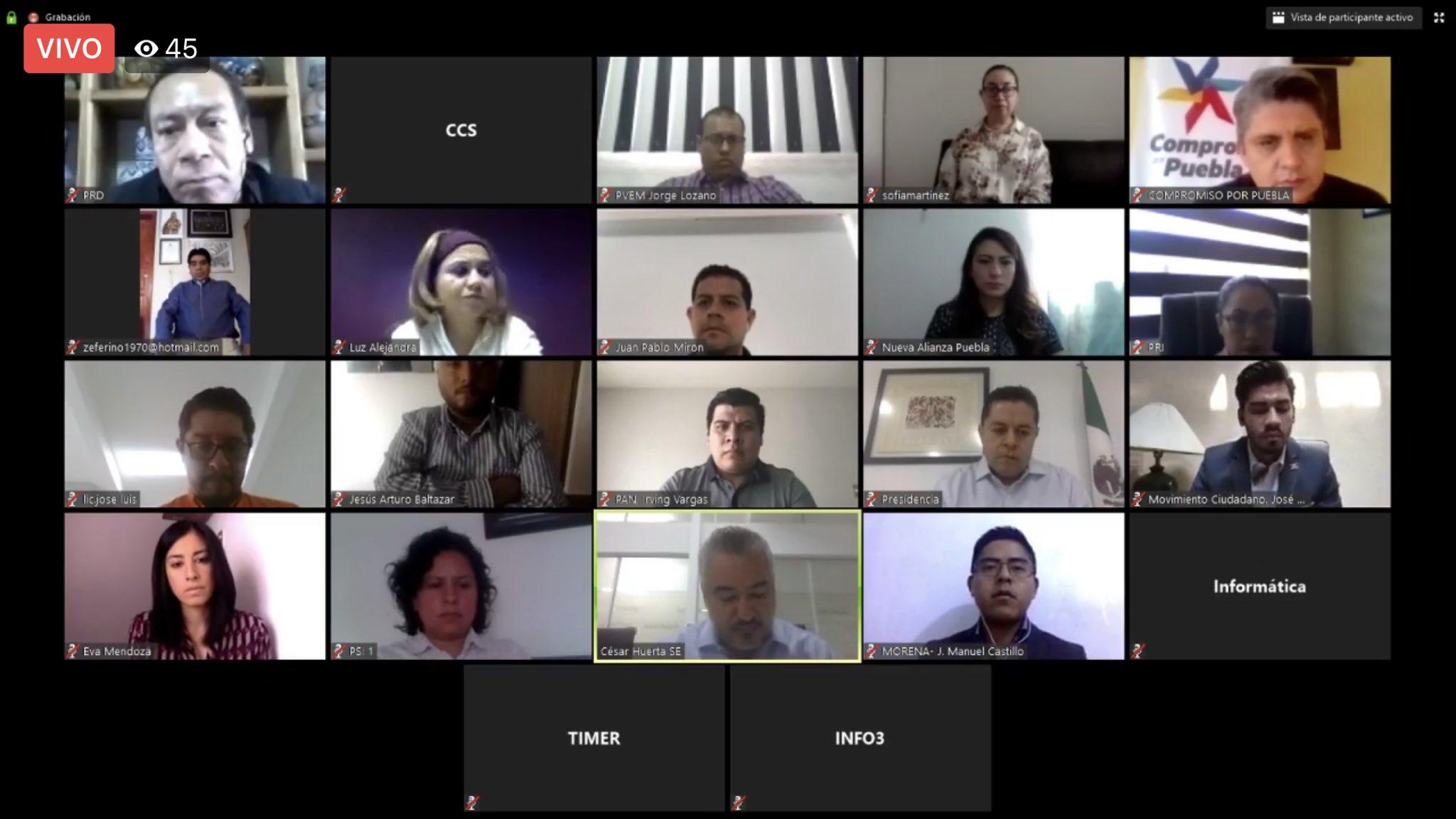 IEE Puebla aprueba sesiones en línea durante la cuarentena