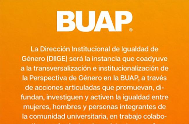 BUAP tendrá Dirección Institucional de Igualdad de Género