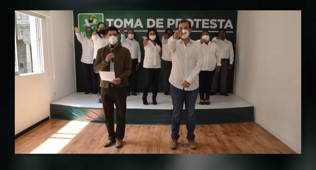 Toman protesta a integrantes de Comité de Atlixco del PVEM