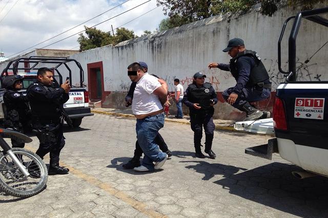Detienen a cuatro sujetos quienes asaltaron BanCoppel de Amozoc