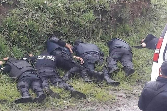 Ejecutan a seis policías de Amozoc; bajo sospecha comandante