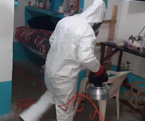 Sanitizan penal de Huejotzingo, tras confirmar casos positivos de Covid-19