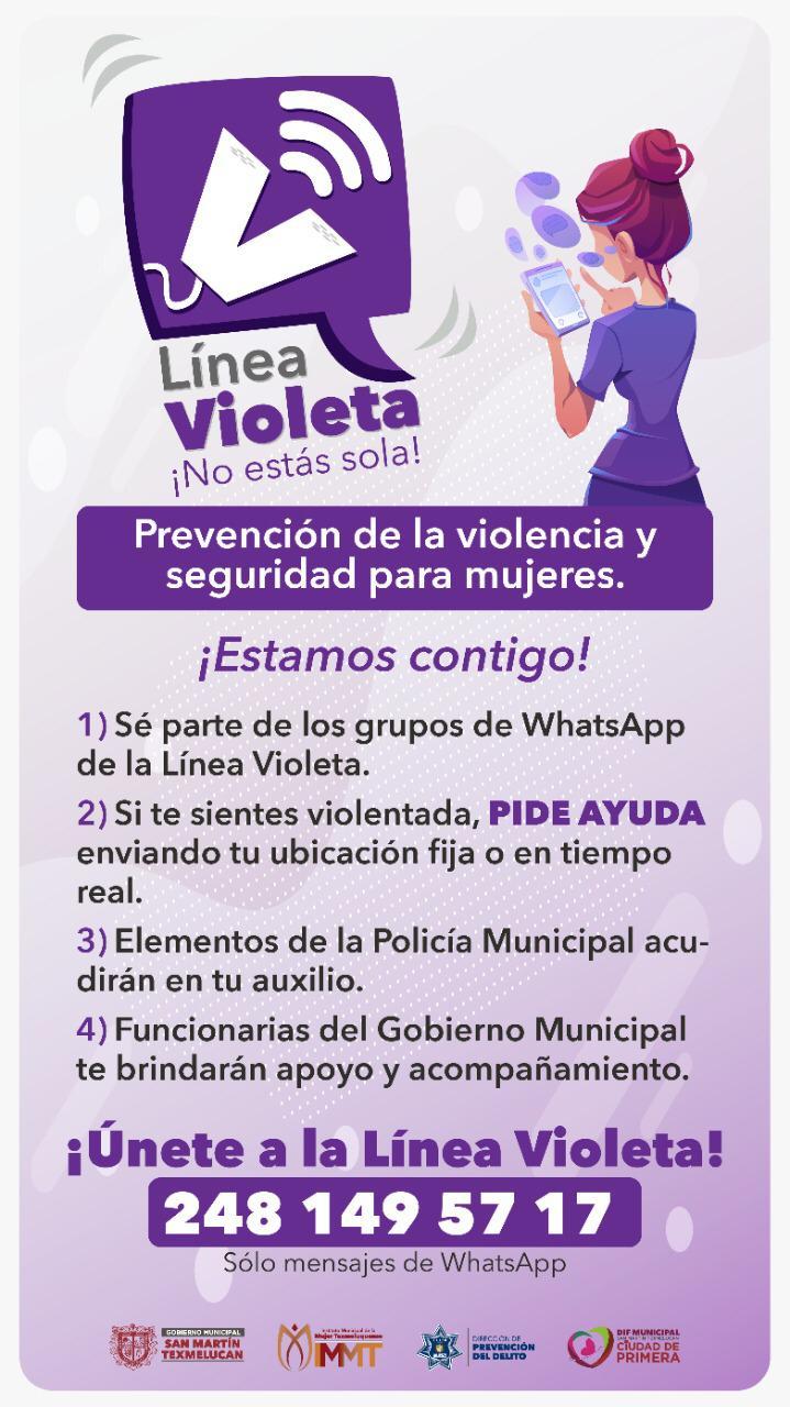Víctimas de violencia podrán pedir ayuda por WhatsApp en Texmelucan