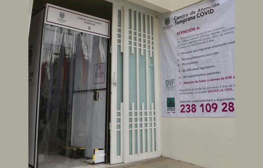 Seguirá activo Centro Covid en Tehuacán por presencia de casos